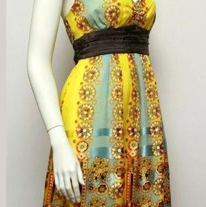 Anthropologie Silk Halter Dress Size 10